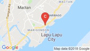 Condo for rent in Pusok, Cebu location map