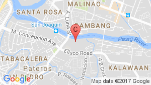 Arezzo Place Pasig location map