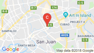 1 Bedroom Office for rent in Aurora, Metro Manila near LRT-2 Gilmore location map
