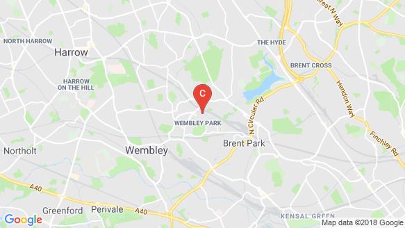 แผนที่สถานที่ Anthology Wembley Parade